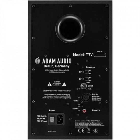"Adam T7V Monitor Profesional de Estudio 70 watts Activo 7"""