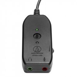 Audio-Technica ATR2x-USB Adaptador Audio Mic + Audífonos 3.5mm a USB