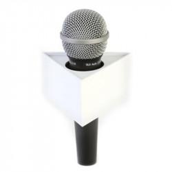 "Benchmark T400200W Portalogo ""Micflag"" Blanco Triangular para Micrófono de mano 10,16cm x 5,09cm"