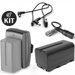 Kit 2 Baterías F960 para Blackmagic Design Pocket Cinema Camera HD / 4K / 6K