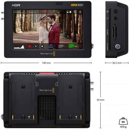 "Blackmagic 5"" 12G Video Assist 4K HDR HDMI/12G-SDI Grabador y Monitor 5"""