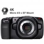 Blackmagic Design Kit EF Pocket Cinema Camera 4K (sólo cuerpo) Blackmagic RAW