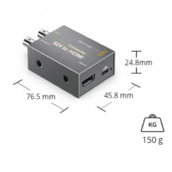 Blackmagic Design Micro Convertidor de HDMI a SDI (2) 3Gb/s con Power Supply