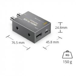 Blackmagic Design Micro Convertidor de HDMI a SDI (2) 3Gb/s con Power Supply
