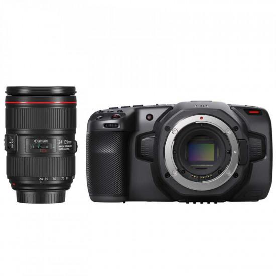 Blackmagic Kit Pocket 6K Cinema Camera  (montura EF) con lente 24-105 F4
