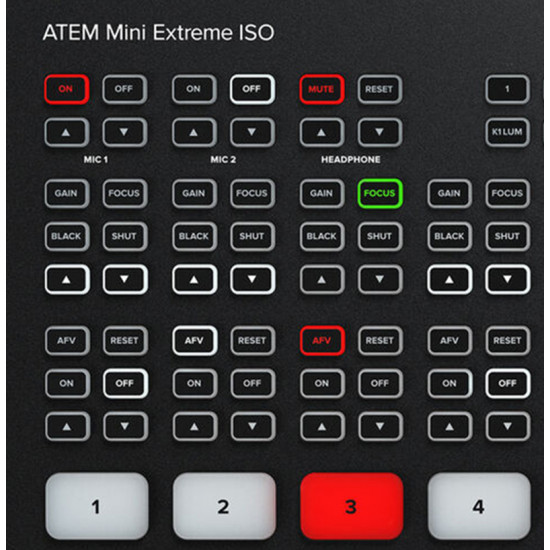 Blackmagic Design ATEM Mini Extreme ISO Mixer 8 HDMI Streaming + Record