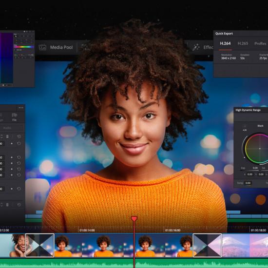 Blackmagic Design Davinci Resolve con Speed Editor (promo)