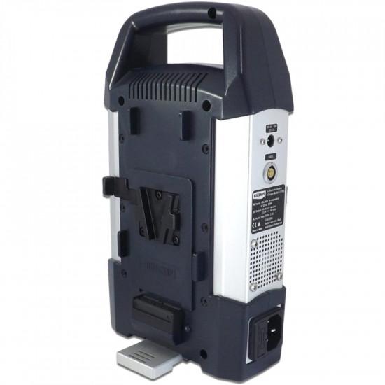 Blueshape CVTR2 Cargador 2 canales V-Mount + 4pin XLR 110watts