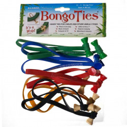 Bongo Ties Colors Grip para Organizar Cables Pack de 10
