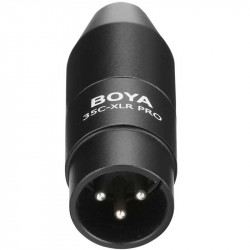 Boya 35C-XLRPRO Adaptador 3.5mm mini jack a 3 pin XLR con power converter
