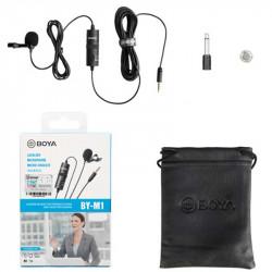 Boya BY-M1 Micrófono Lavalier para Cámaras, SmartPhones y Tablets