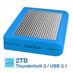CalDigit Tuff 2TB Disco Duro Externo USB 3.1 Tipo C 10Gb/s Portátil (Blue) USB-C