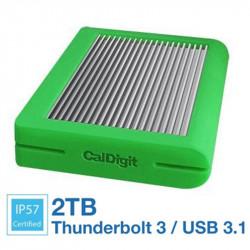 CalDigit Tuff 2TB Disco Duro Externo USB 3.1 Tipo C 10Gb/s Portátil (green) USB-C