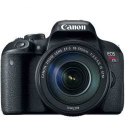 Canon Cámara EOS Rebel T7i con lente EF-S 18-135mm IS STM
