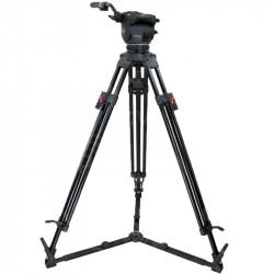 Cartoni Kit Focus HD Video con trípode aluminio y estrella al piso