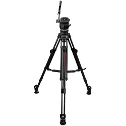 """Cartoni Kit Video de cabezal Focus 8 con trípode Aluminio de 2 Secciones con sistema """"SDS"""" para despliegue rápido"""