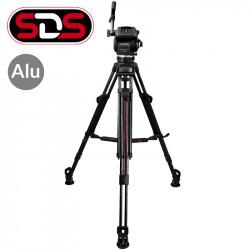 """Cartoni Kit Video ENG Cabezal Focus 22 con trípode de Aluminio 2 Secciones Sistema """"SDS"""" para despliegue rápido"""
