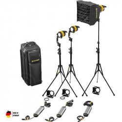 DedoLight  Kit Basic Led Entrevistas 3 Luces Bi Color DLED4