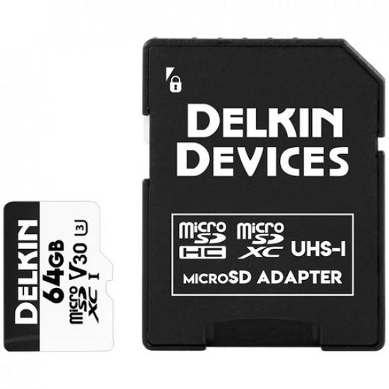Delkin Devices microSDXC Advantage UHS-I 64GB 4K V30