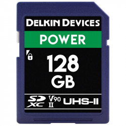 Delkin Devices Power SDXC 128GB V90 8K UHS-II U3 Lectura 300MB/s / 250MBs