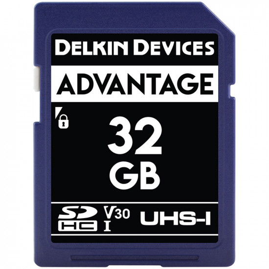 Delkin Devices Advantage SDHC 32GB V30 UHS-I U3 Lectura 90MB/s / 90MBs