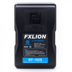 FXlion 2 Baterías Cool Black Lithium V-Mount 190W/h y cargador doble Fast Charger