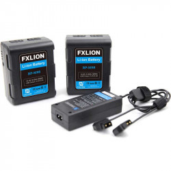 FXlion BP-M98-KA 2 Baterías Lithium V-Mount Mini 98W/h 6.7Ah y cargador doble