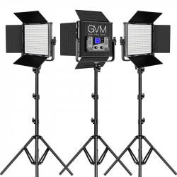 GVM 50RS3L Kit de 3 LED Soft Light Bi-Color & RGB