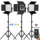 GVM 50RS2L Kit de 2 LED Soft Light Bi-Color & RGB