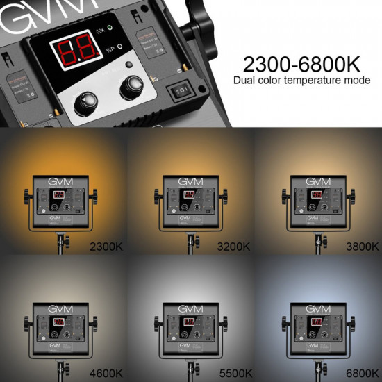 GVM 560AS Panel LED Soft Light Bi-Color con stand