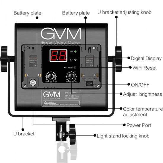 GVM 560AS Kit de 3 LED Soft Light Bi-Color