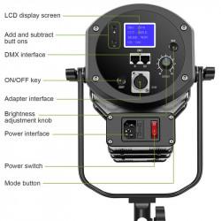 GVM GVM-S300S Fresnel Led 300Watts 5600K CRI/TLCI: 97+