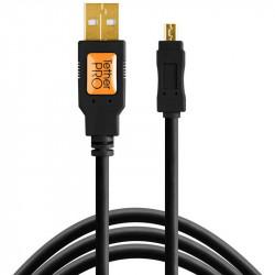 Tether Tools CU8015-BLK Cable USB 2.0 A Male a Mini-B 8-Pin de 4.60mts