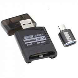 Hoodman HUHS2 Lector de tarjetas SDHC/SDXC UHS-II USB-C