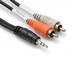Hosa CMR-206BULK Cable Audio 1.8mts  3.5mm TRS  a 2 RCA Left/right