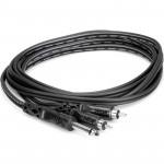 "Hosa CYR-103 Cable Audio 3mts  PLUG 1/4"" TS  a 2 RCA mono"