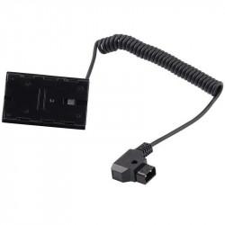 Cable Adapter Alimentación conector D-tap a batería NP-F Dummy NP