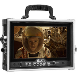 "Ikan D12-FK-V 11.6"" 3G-SDI Full HD Monitor con V-Mount y maleta dura"