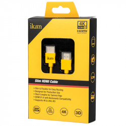 Ikan Slim HDMI Cable Corto HDMI a HDMI 45cm High Speed 4K