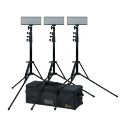 Ikan Kit 3-Onyx 240 On-Camera Light Dual Color con tripodes y bolso