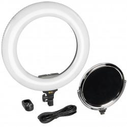 """Ikan RLCB60 Oryon Ring Light 18"""" Bi-Color LED  95+ CRI RLB48-M en kit de maquillaje"""