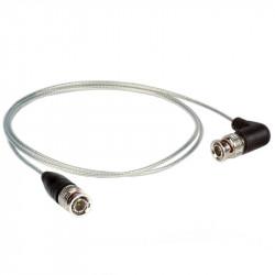Ikan Cable SDI 45cm corto y delgado con Conector BNC Standard / 90 grados