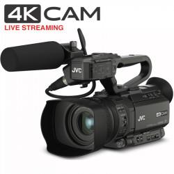 JVC GY-HM250U 4KCAM Cámara Compacta 4K 3G-SDI Streaming IP