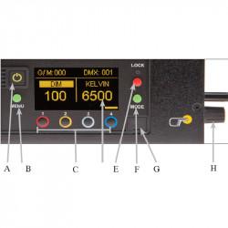 Kino Flo FreeStyle T44 LED DMX Kit 4ft con maleta