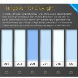 Lee Filters Juego de filtros de Conversion de Tungsten a Daylight Pack 30cm