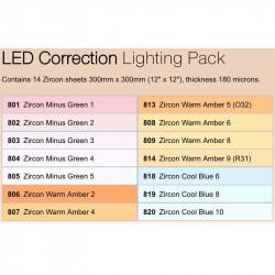 Lee Filters ZPCORR Zircon Pack de filtros LED Correción 30x30cm