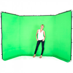 Lastolite Fondo Panorámico Chromakey Verde para backdrop 2.3 x 4 mt. LB7622