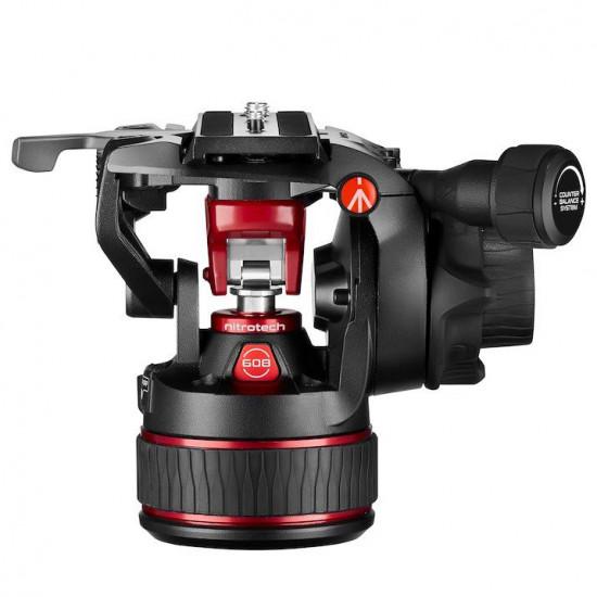 Manfrotto Nitrotech 608 Cabezal de Video hasta 8Kg Flat base