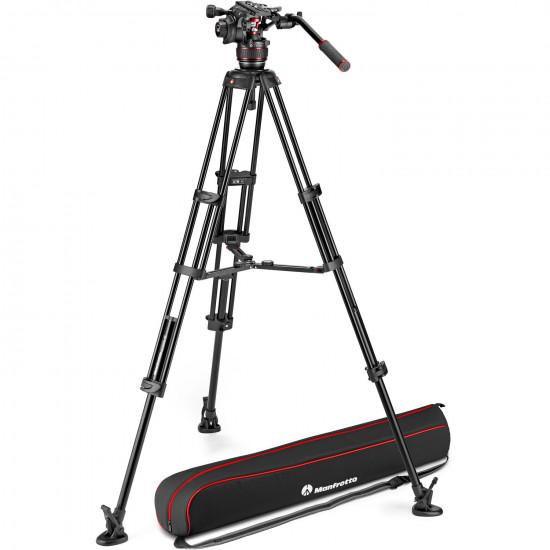 Manfrotto Kit Nitrotech 608 Cabezal Video con trípode alumino Twin