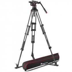 Manfrotto Nitrotech N12 Cabezal de Video con tripode de Twin GS Carbono hasta 12Kg / 1.76mts de altura